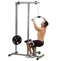 Lat Machine Cable Fitness Equipment - Powerline PLM180X - High and Low Pulleys