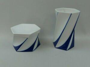2x Rosenthal Jan van der Vaart Modernist Vase und Deckeldose