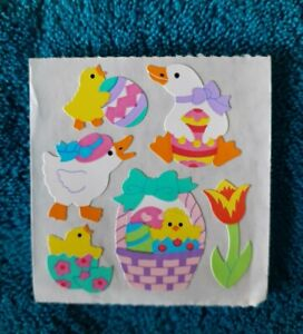 Vintage Sandylion Easter Chicks and Ducks with basket and eggs 1 Mod