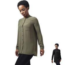 Maglie e camicie da donna casual in poliestere senza colletto