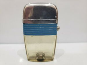 Vintage Working Scripto Vu CLEAR Lighter, BLUE BAND      1046.29