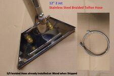 "Carpet Clean Wand 12"" 2-Jet 1.5"" Tube S-Bend Truckmount Portable S/S Braid Hose"