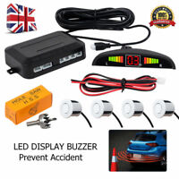 Car Rear Reversing Reverse 4 Sensors Backup Parking LED Display Buzzer Alarm Kit