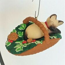 Vintage Hallmark Christmas Ornament 1996 Keepsake 'Cat Naps' Signed by Artist