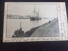 Canal de Suez Kantara View Egypt Carlo Miele Alexandrie Egypte Postcard French