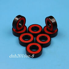 16Pcs High speed Inline Skate Skateboard Bearings Abec-9 Stainless Black