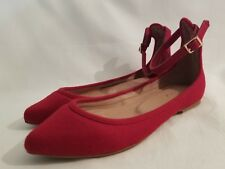 0cccfab49 Joie Temple Ankle Buckle Strap Ballet Flats Red Flannel Ladies Shoes Size  35 New