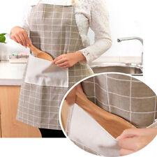 Women/MEN Lady Restaurant Home Kitchen For Pocket Cooking Cotton Apron Bib Hot