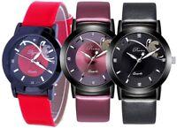Armbanduhr Damen Uhr Leder Geschenk Damenuhr Silber Strass Blogger Trend Quarz