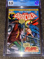 Tomb of Dracula #10 1973 MARVEL 1st Appearance of Blade Vampire Slayer CGC 3.5