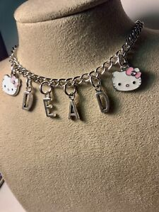 Hello Kitty Punk Goth Dead Necklace