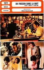 """FICHE CINEMA : UN FRISSON DANS LA NUIT  Eastwood,Walter 1971 Play """"Misty"""" For Me"""