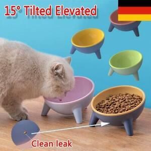 Erhöhte Runde Futterstation 15° Dog Bowl Pet Feeder Katzennapf für Hund Katze