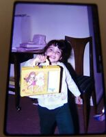 Vintage Slide Color Photo of Cute girl Holding Tutti and Chris DOLL CASE Mattel