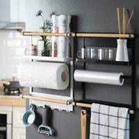 Kitchen Refrigerator Side Storage Holder Magnetic Organizer Shelf Rack S8R4