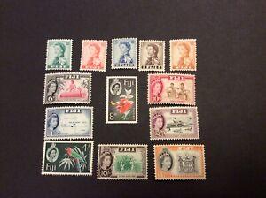 1959 Fiji QEII Local Motives set of 13 Unmounted.