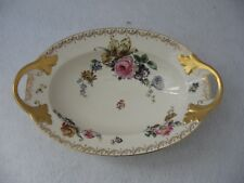 Mystery Bavaria China Floral Pattern With Gold Trim Serving Dish