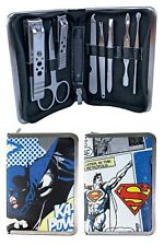 Dc Comics - Superman Batman Travel Manicure Pedicure Nail Care Grooming Kit Set