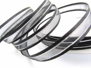 """25 yards Organza Sheer Silver Trim Ribbon 3/8"""" 7/8"""" Roll/Wedding R56-10 Colors"""