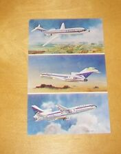 DELTA AIRLINES POSTCARD LOCKHEED L-1011 TRISTAR BOEING 727-232 DOUGLAS DC9-32