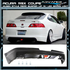 For 05-06 Acura RSX DC5 Type-S 2Dr Mugen PU Rear Bumper Lip Spoiler LED Light