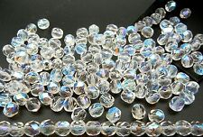 150 Preciosa Czech Glass Round Faceted Fire Polished Beads 8mm Crystal AB, loose