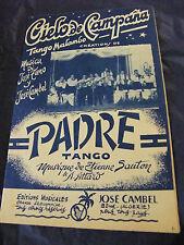 Partition Cielo de Campana Tieno Cambel Padre Sauton Attard 1958 Music Sheet