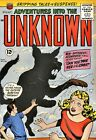 Adventures Into the Unknown 135 Comic Book Cover Art Giclee Repro on Canvas