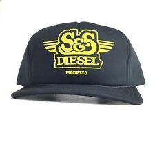 Vtg S&S Diesel Modesto (California) Truck Repair Black Trucker Hat Baseball Cap