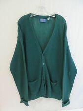 Men's Pendleton USA Green Cardigan Sweater Size XL