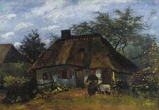 Farmhouse in Nuenen Vincent van Gogh Bauernhaus Hütte Garten Dach B A3 03376