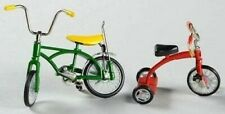 Dept. 56 Bicycle and Tricycle Set of 2 Red & Green Retired 2004 Heritage 52950