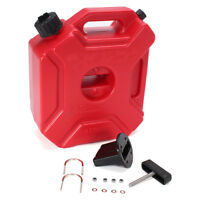 5L Plastic Jerry Cans Gas Fuel Tank SUV Motorcycle + Mounting Kit E6B2 L3A4
