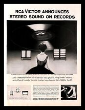 1958 RCA Victor Stereo Orthophonic Record Player Vintage PRINT AD Victrola 1950s
