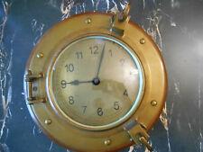 horloge pendule hublot US NAVY clock pendulum porthole ancienne old nautical