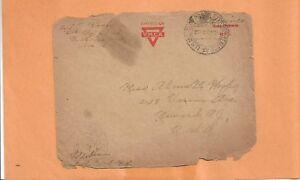WW I U.S MILITARY COVER APO 710 EXPRESS SERVICE YMCA 1919 CENSORED