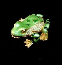 Trinket Box Enamel Frog Bejeweled Jewelry Keepsake Box Container