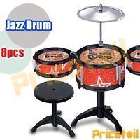 OZ Red Kids Drum Kit Music Set Children Mini Big Band Jazz Musical Play Toy Gift