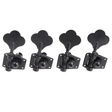 Set of 4 pcs tuning pegs Keys Black Electric Bass Machine Heads Tuners 4R