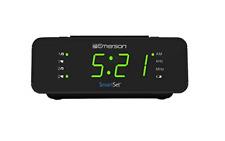 "SmartSet Alarm Clock Radio with AM/FM Radio Dimmer Sleep Timer and 9"" LED Dis..."