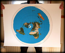 FLAT EARTH - AZIMUTHAL EQUIDISTANT PROJECTION USGS Radar/Radio Map (101 x 76cm)