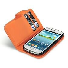 For Samsung Galaxy S3 Mini i8190 PU Leather Wallet Case Cover - Orange