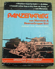 Panzerkrieg Wargame by Operational Studies Group in Good condition Unpunched!!