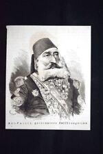 Alì-Pascià, governatore dell'Erzegovina Incisione del 1876