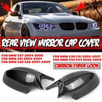 Carbon Look Rear View Mirror Cover Cap M3 Style For BMW E90 E91 E92 E93 PRE-LCI