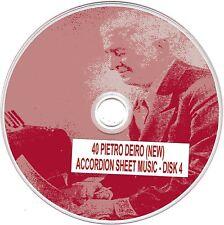 40+ Pietro Deiro (NEW) Accordion Sheet Music - CD#4 of 5