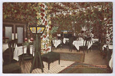 1908 Denver Co Albany Hotel Interior The Arbor Room Old Unused Postcard Pc4526