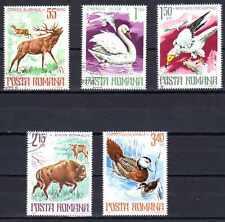 Animaux Faune sauvage Roumanie (58) complète 5 timbres oblitérés