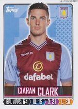 N°026 CIARAN CLARCK # IRELAND ASTON VILLA.FC STICKER TOPPS PREMIER LEAGUE 2014