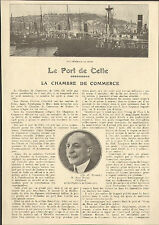 34 SETE CETTE PORT CHAMBRE DE COMMERCE ARTICLE DE PRESSE PAR JEAN PRATS 1923